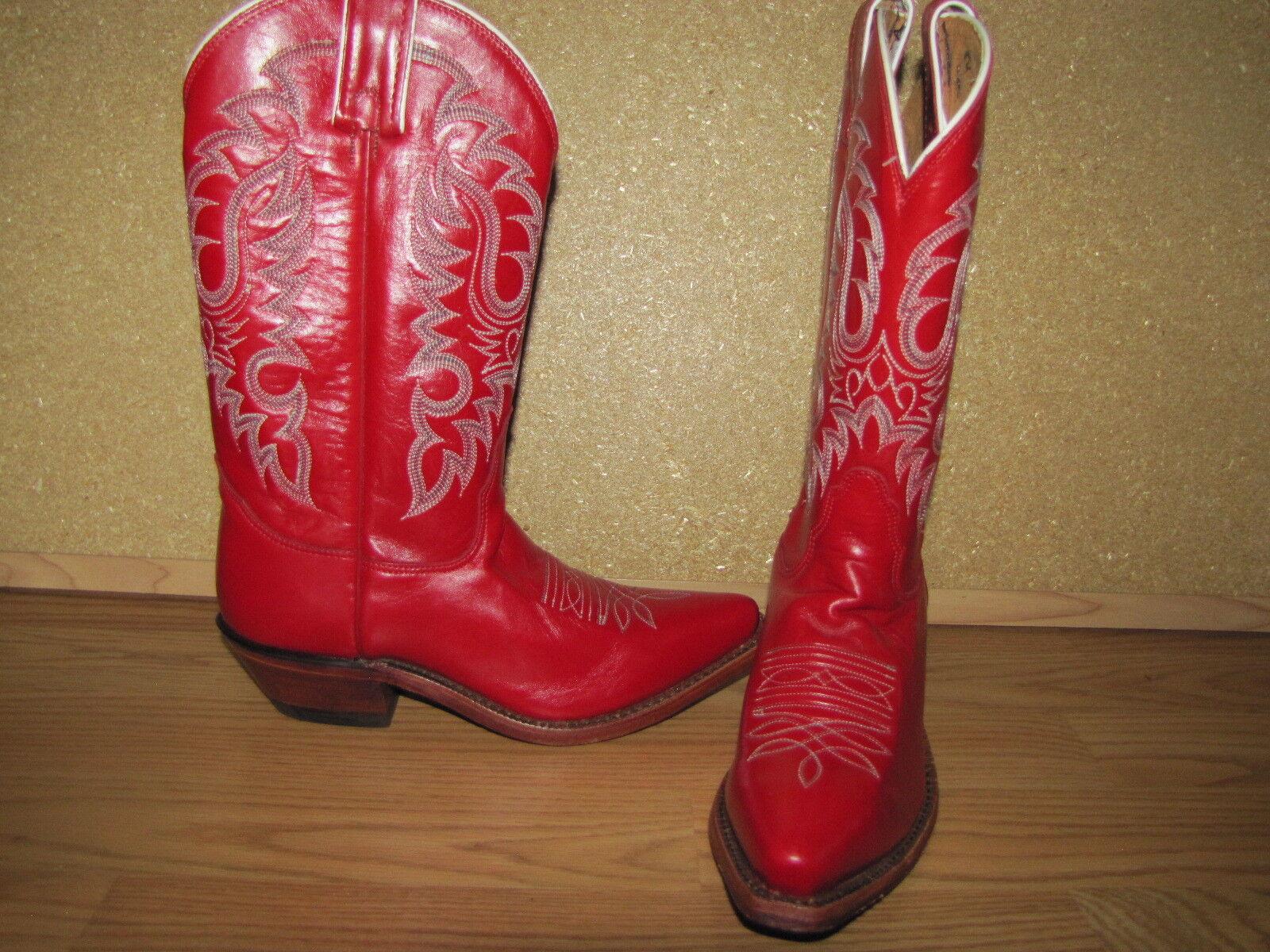 NWOB Boots Nocona Boots Rosso Soft Ice Cowboy Boots NWOB - 6B European 36 533cf9