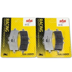 2x-Pairs-of-SBS-Dual-Carbon-Front-Brake-Pads-For-Brembo-M4-Calipers-841DC