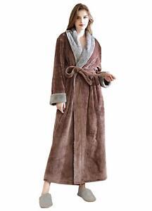 Women Long Robes Fleece Winter Warm