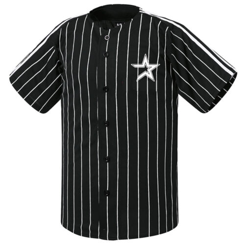 Houston Astros Striped Button Jersey Baseball Open T-Shirts Uniform 0103