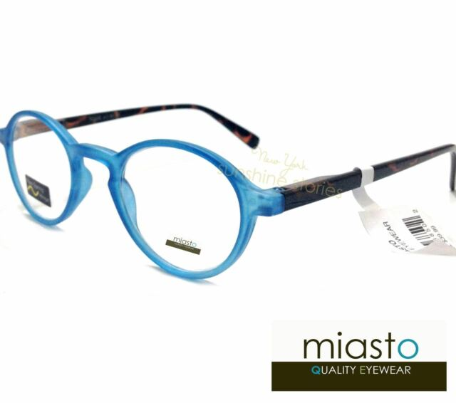 MIASTO PREPPY ROUND KEYHOLE READER READING GLASSES CHEATERS +3.00 COLOR BLUE