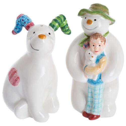John Beswick The Snowman /& The Snowdog Ceramic Salt /& Pepper Shaker Set NEW