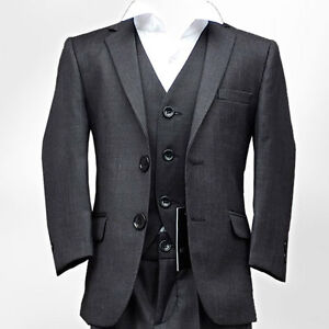 Flamingo-Boys-Suit-in-Charcoal-Grey-Italian-Cut-Pageboy-Wedding-Prom-Fitted-Suit