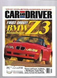 Image Is Loading Car And Driver Magazine January 1996 Bmw Z3