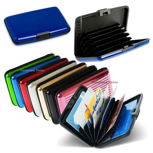7 Colours Waterproof Business ID Credit Card Wallet Holder Aluminum Metal Pocket