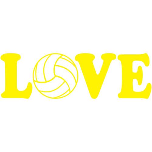 "Love Volleyball 4/"" Vinyl Decal Car Window Sticker Car Beach AVP FIVB"
