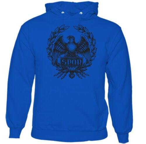 SPQR Homme Empire Romain Standard Sweat à capuche Gladiator Gym Training Top Eagle MMA