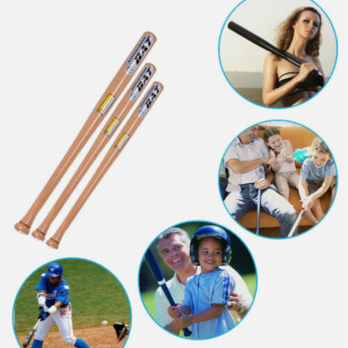 Solid Wood Wooden Baseball Bat 25 29 32 Inch Rounders Softball Adult Kids Bats
