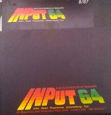 Input 64 8/87 1987 Commodore C 64 Diskette