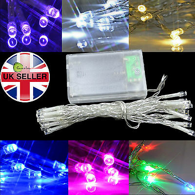 20LED Fairy Lights AA Battery Powered Operated String Christmas Xmas Party Decor