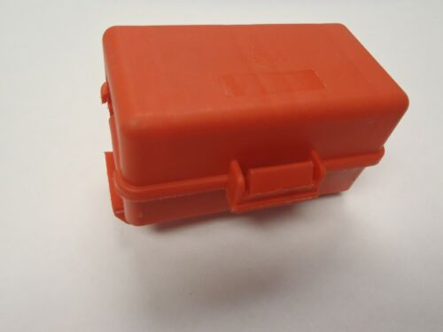 """Red 3//8/"""" Stud Dual Terminal Block Covered Lid Battery Junction Box Distribution"""