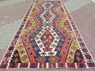 "Vintage Turkish Kilim Rug,Antique Rug,Wool Rugs 66,9""x159,4"" Area Rug,Carpet"