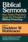 Biblical Sermons by H.Wheeler Robinson (Paperback, 1997)
