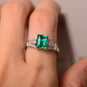 Luxury Blue Topaz Green Peridot & Lemon Quartz Stone Silver Rings