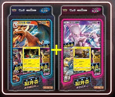 Pokemon Card Detective Pikachu Charizard Gx Mewtwo Gx Jumbo
