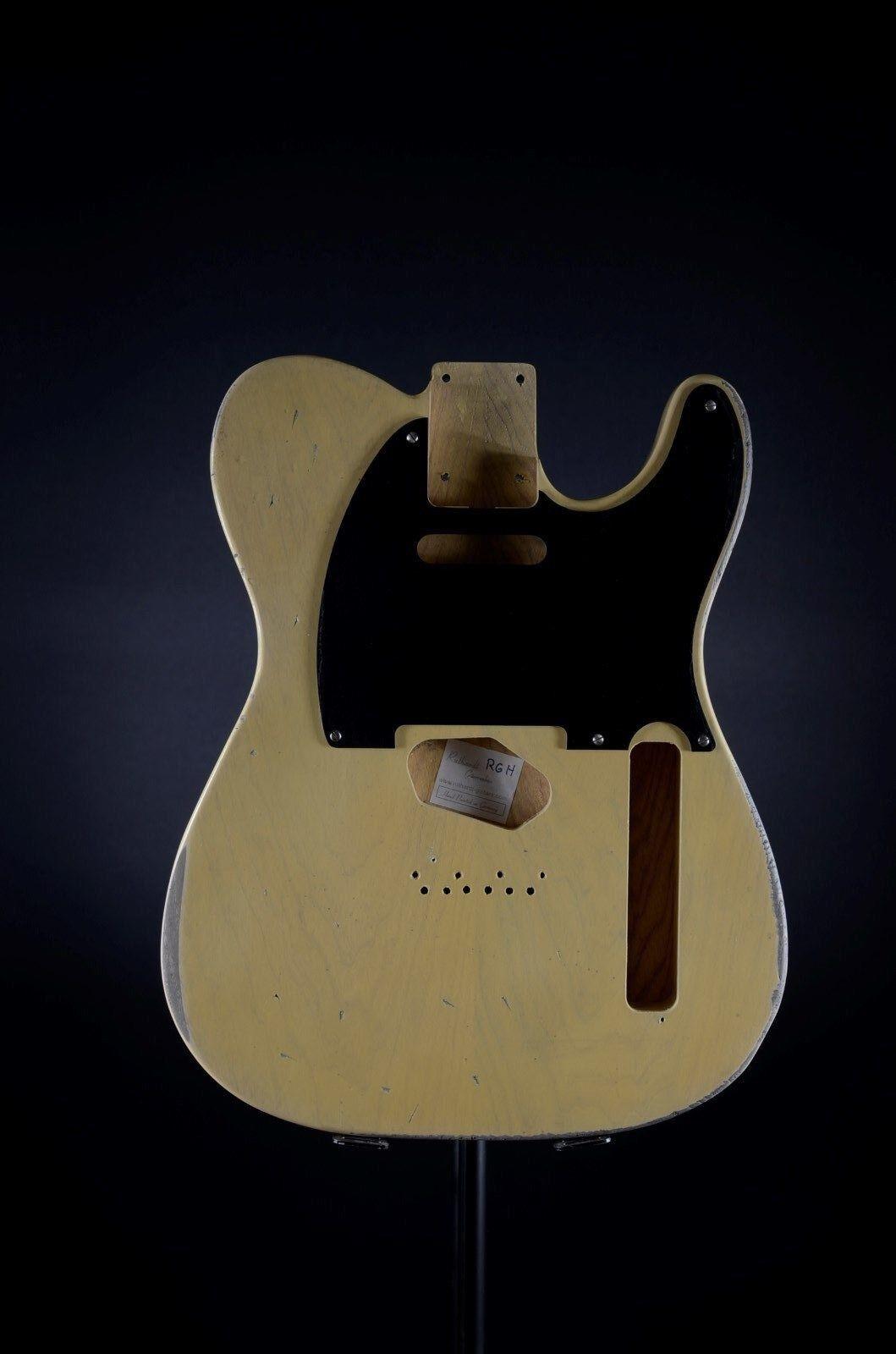 RGH   Tele Style Body Butterscotch  Swampash aged   relic  Nitro  + Bak. Pickg.