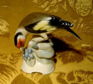 VINTAGE-ROSENTHAL-BIRD-GOLDFINCH-FIGURINE-577-T-KARNER-SIGNED-HANDPAINTED