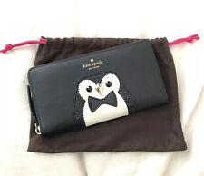 Kate Spade Clifton Lane Neda Cute Penguin Black Wallet Wlru2737