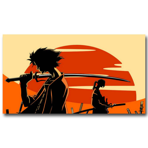 Samurai Champloo Japanese Anime Silk Poster 13x24 inches Home Decor 006