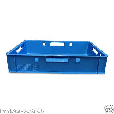 1 X Kunststoff E1 Kiste Gemüsekiste Obstkiste Stapelkiste Mehrzweckkiste Blau