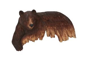Brown-Bear-Wall-Art-Cabin-Rustic-Decor-Hand-Wood-Carving