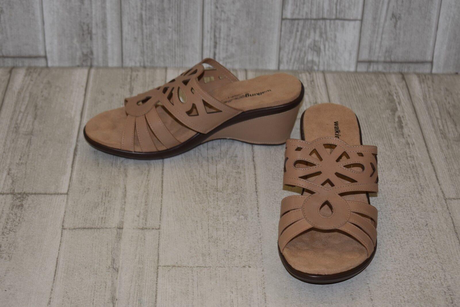 Walking Cradles Logan Sandalia De Cuña-mujer 'S Talla 9.5W 9.5W 9.5W - Marrón claro  mejor calidad mejor precio