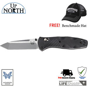 Benchmade-583-Barrage-Axis-Assist-Knife-154CM-Stainless-TANTO-Blade-FREE-HAT