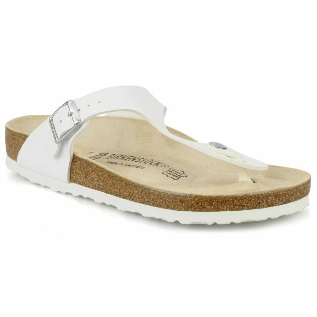 7c57a5a8fc94 Birkenstock 043731 Ladies Gizeh White Sandals Various Sizes 39 EU ...