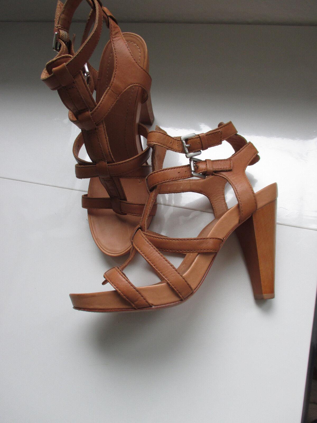 Neuwertige Marc O´Polo Damen Schuhe Sandale Gr.38 cognac RiemchenSandaleeen /ZZ
