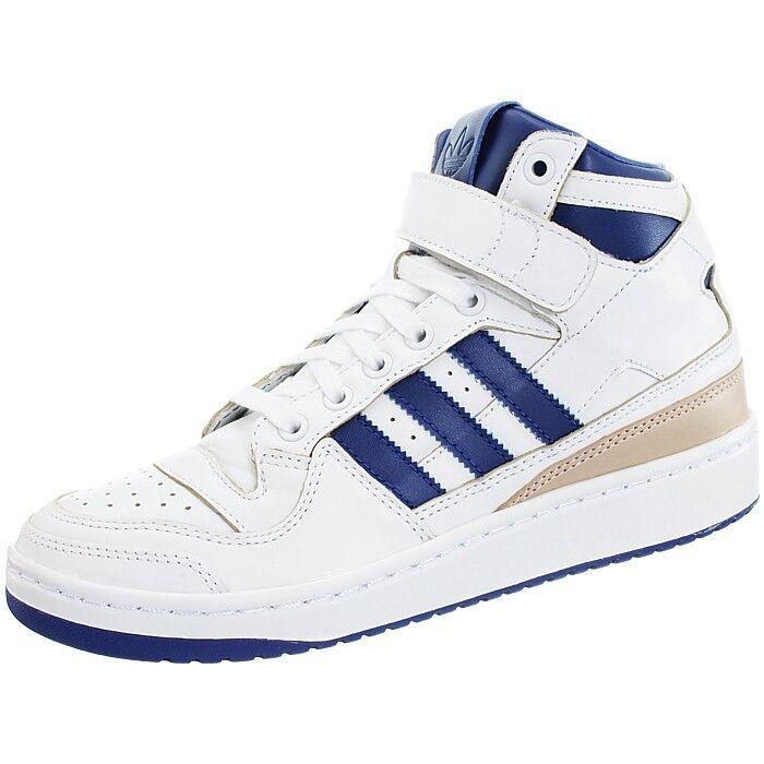 Adidas Forum Mid white Men's leather basketball retro 80s midtop sneakers NEW