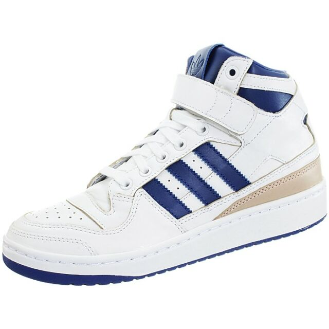 official photos 95546 87f08 Adidas Forum Mid white Men s leather basketball retro 80s midtop sneakers  NEW