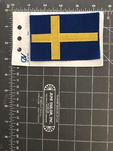 Sweden Swedish Flag Patch Blue Gold Yellow Nordic Cross Sveriges Scandinavia Se Ebay