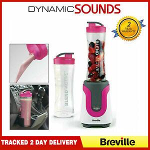 Breville-Blend-Active-Blender-Smoothie-Maker-Mixer-Fruit-Juicer-300W-Pink-VBL134