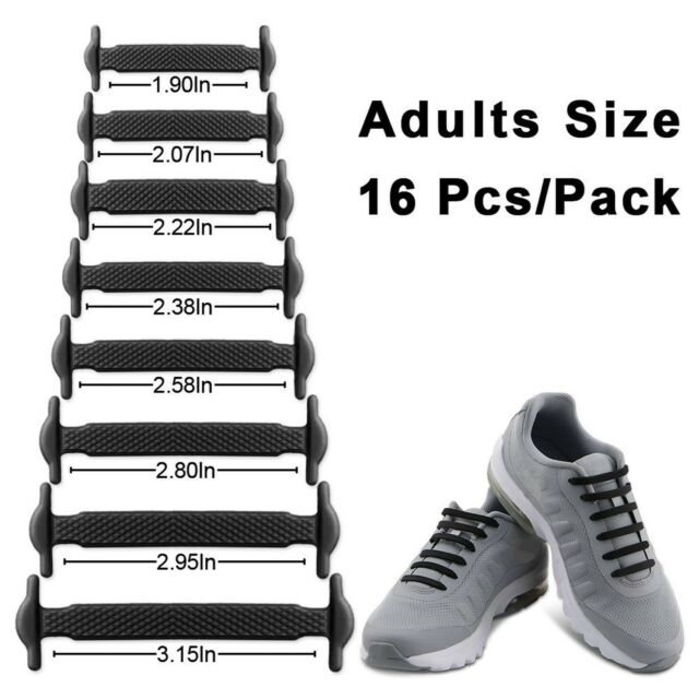 HOMAR No Tie Shoelaces for Adults 2 Pack White Waterproof Silicone Flat Elastic Shoe Laces for Board Shoes Sneaker Boots and Casual Shoes