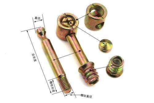 5PCS Furniture Screws Fittings Assembly Hammer Screw BARREL NUT BEDS COT M6