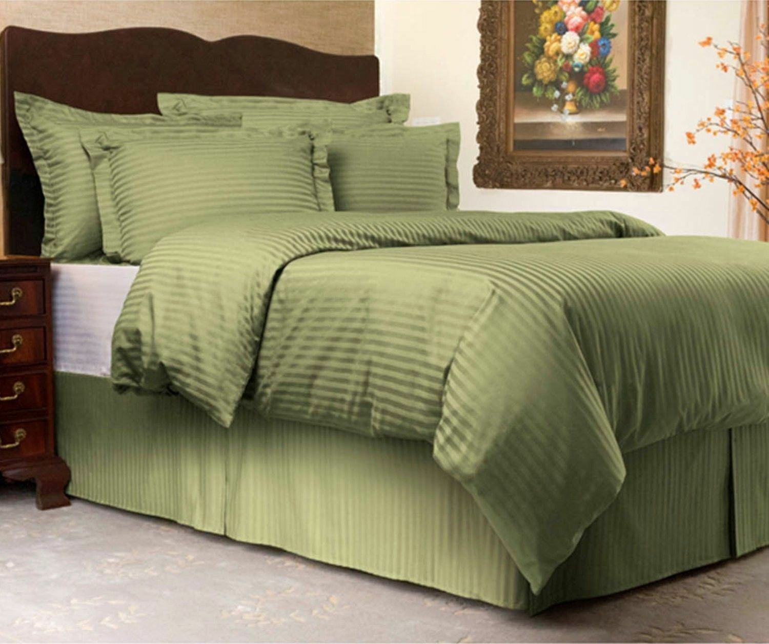 Sweet Dreams Cooling Sateen Stripe 3 Piece Duvet Cover Set