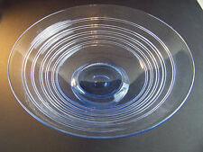WHITEFRIARS SAPPHIRE RIBBON TRAILED CRYSTAL BOWL by Tom Hill - Shape 9031