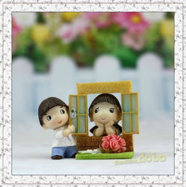 Resin Doll China Classmate Home Decor Figurines Hand Painting Lovers Gift DY9413