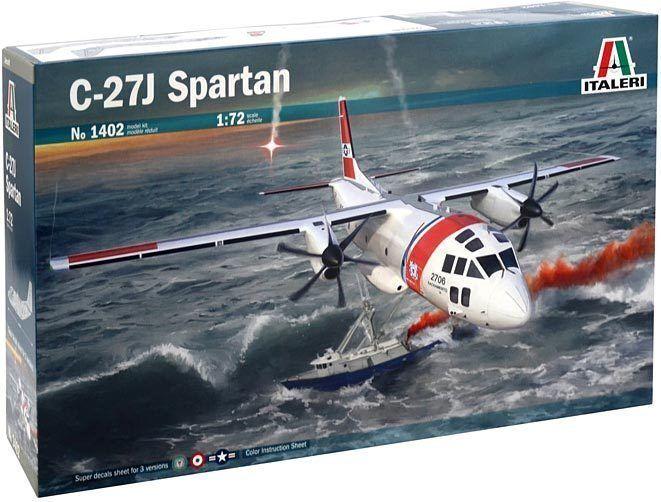 Italeri 1 72 1402  Propeller Airplane C-27J Spartan