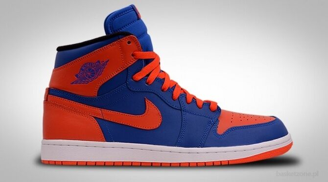 2013 Nike Air Jordan 1 Retro High OG Knicks Mets Size 9. 555088-407 bred royal