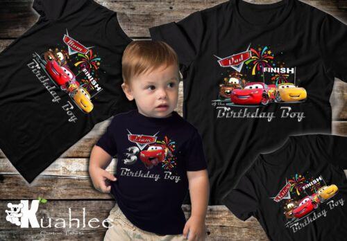 Family Bir Disney Cars 3 Lighting McQueen Personalized Birthday Party Boy Shirt