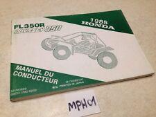 Manuel du propriétaire Honda Odyssey FL350R buggy FL 350 owner's manual