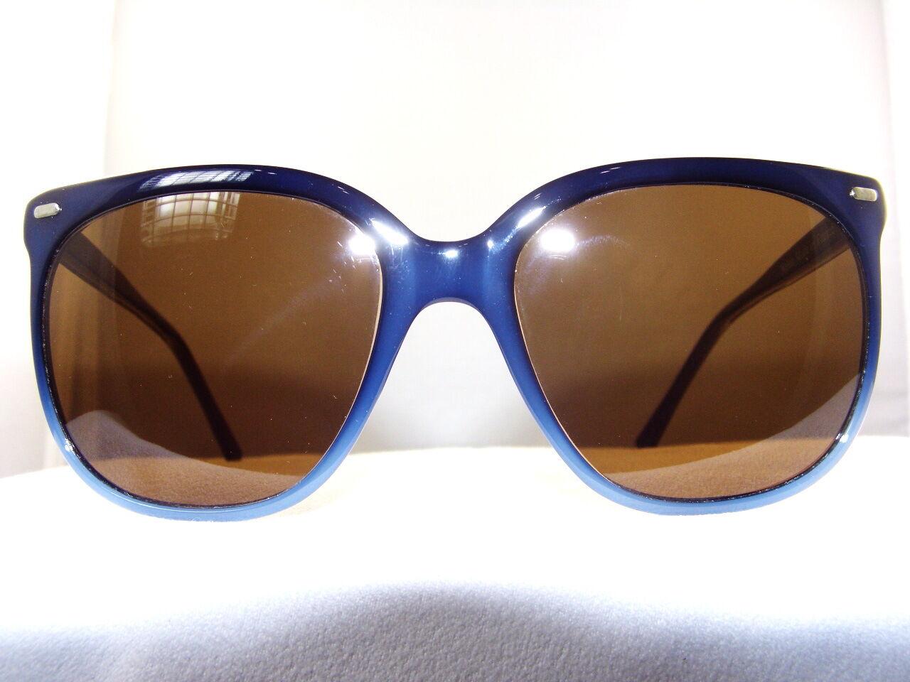 ad3d550ac12 Vintage Maui Jim Navy Blue CAT EYE Frame with POLARIZED Brown Lenses ...