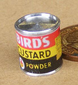 1:12 Scale Empty Birds Custard Powder Tin Tumdee Dolls House Food Accessory