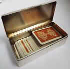 LOVELY HEAVY ENGLISH ANTIQUE 1919 SOLID STERLING SILVER TRAVEL PLAYING CARD BOX