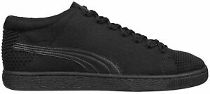 Puma-Basket-evoKnit-3D-Mens-Trainers-Black-Fasion-Sport-Stylish-Sneakers