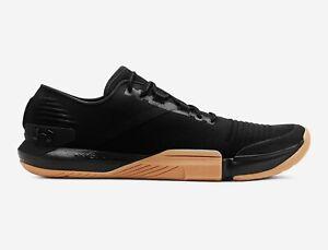 Under-Armour-UA-TriBase-Reign-Men-039-s-8-5-13-Training-Shoes-Black-Gum-3021289-001