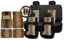 Cool Breeze Padded Mesh Seat Covers Tan Leopard Accent Floor Mats CS9