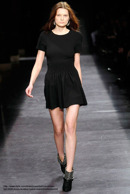 Isabel Marant, schwarz Top with Zipper, Fall Runway Collection 2009, Größe 1