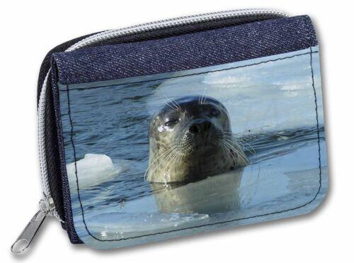 Sea Lion in Ice Water Girls//Ladies Denim Purse Wallet Christmas Gift Id AF-S2JW